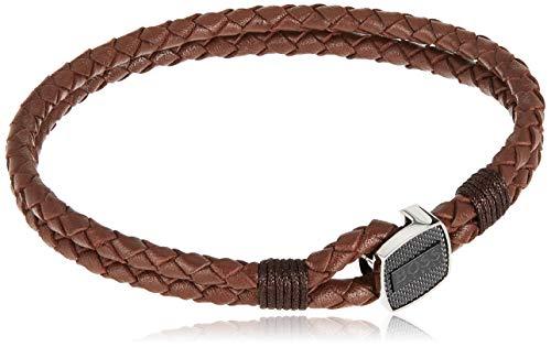 BOSS Herren-Herrenarmband Seal Edelstahl/Leder L Braun 32012843