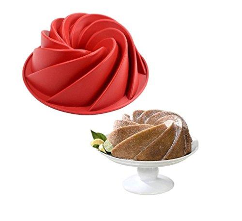 SWEET CANDY BAKERY Kuchen Gugelhupf Spiralkuchen Backform aus Silikon Napfkuchen Back Form Ofenform Backofenform
