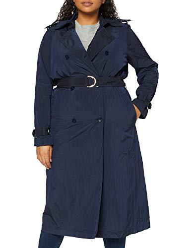 Tommy Hilfiger Ingrid Tech Trench Abrigo, Azul (Peacoat 443), 42 (Talla del Fabricante: Large) para Mujer
