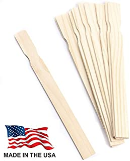 Made in USA Woodman Crafts Paint Stir Sticks - 14 Inch Premium Grade Wood Stirrers - Use for Wood Crafts - Paddle to Mix Epoxy Or Paint - Garden - Library (Pack of 25)