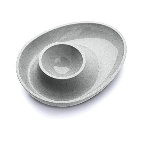Koziol Eierbecher Columbus, Eier Becher, Eierhalter, Thermoplastischer Kunststoff, Organic Grey, 3004670