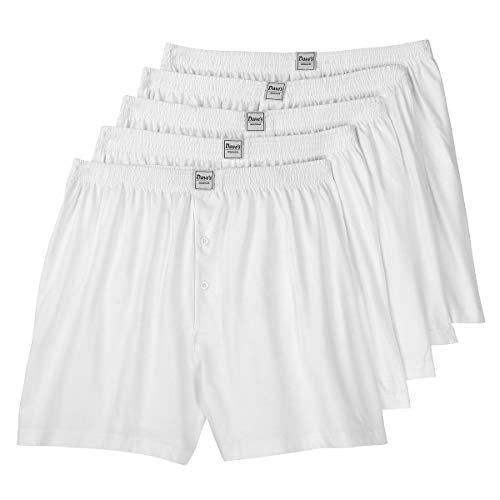 Dave's Lot de 5 Caleçons Hommes Grande Taille Blanc, 4/5/6/7/8/9/10/12/14/16/18:10