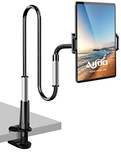 AISUO Tablet Halterung Bett,ipad Halterung - Lazy Flexible Einstellbare Arm Tablet Halter für iPad Pro Air Mini/Handy/Switch/Kindle,120cm Gesamtlänge und Weitere 4,7-12,9 Zoll Geräte