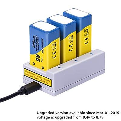 maxlithium 9v 800mAh Battery