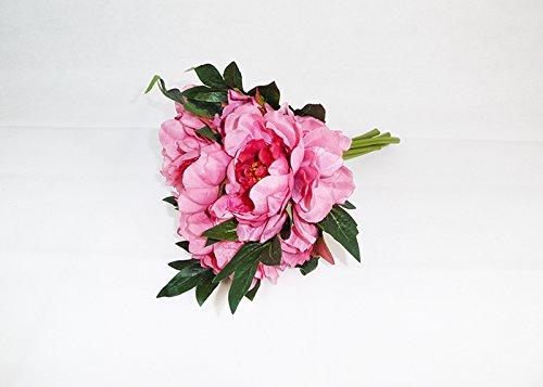 Bush Pivoine C/Fleur H.35 cm Fleurs Artificielles Bouquet Jeux décoration Wedding Fuchsia