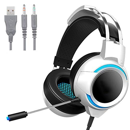 Handy-Headset, kabellos, Sport, wasserdicht, Rauschunterdrückung, starker Bass, faltbar, Surround-Soundkarte, steckbar, Gaming-Headset (Farbe: Weiß)