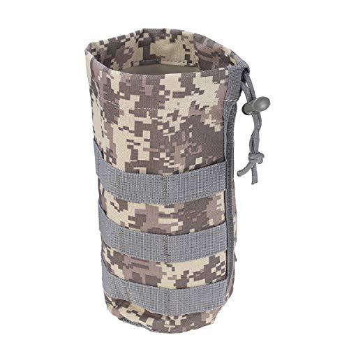 VORCOOL Tragbare Wasserflasche Tasche Pouch Holder Carrier mit Kordelzug Mesh (ACU Camouflage)