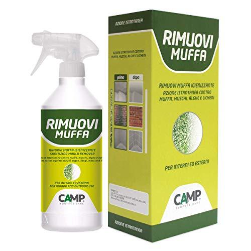 Camp RIMUOVI MUFFA, Antimuffa igienizzante professionale, Elimina rapidamente muffe, funghi, muschi e alghe