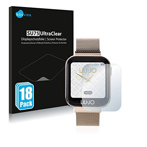 savvies 18-Pezzi Pellicola Protettiva Compatibile con Liu Jo Smartwatch Protezione Schermo Trasparente