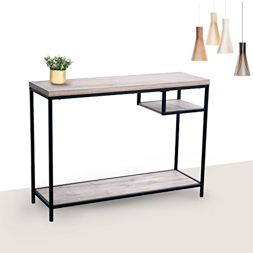 "Bricraft Wall Table 41.3"" Side Accent Table Sofa Console Table with Shelf for Living Room"
