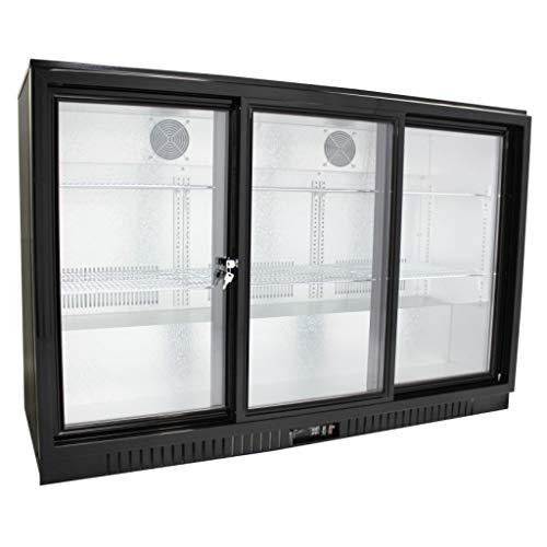 Procool Refrigeration Sliding 3 Door Back Bar Beverage Cooler; 54' Wide Counter Height Refrigerator