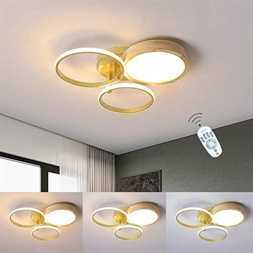 LED Modern Light Light Foxxture, Lámpara de techo de la luz redonda de la luz del techo 41W de la lámpara de techo redonda 41W con control remoto, tono acrílico, lámpara de salón de aluminio de metal