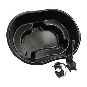 Bermuda Ladybower Black Plastic Heavy Duty Garden Pond Kit with 600 LPH Pump
