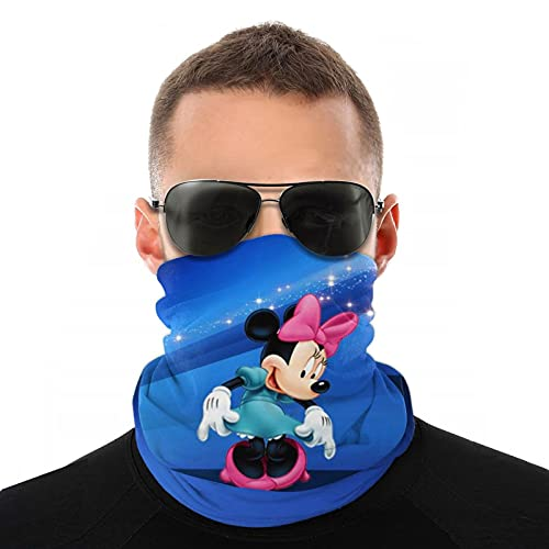 Minnie Mouse Face Mask Half Sun Dust Protection,Reusable Neck Gaiter Face Balaclava Breathable Women Men For Sports & Outdoors