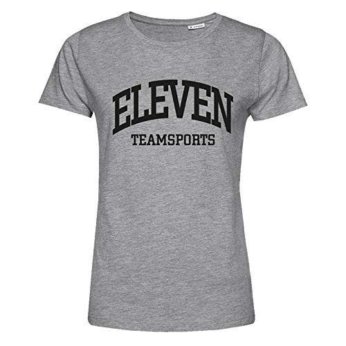 11teamsports Eleven T-Shirt Damen Grau Schwarz