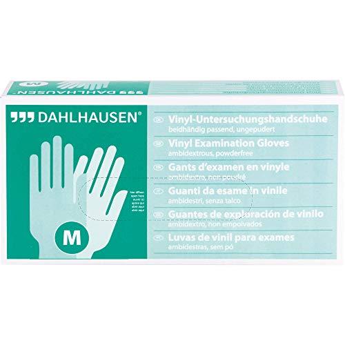 DAHLHAUSEN Vinyl Handschuhe Gr. M ungepudert, 100 St. Handschuhe