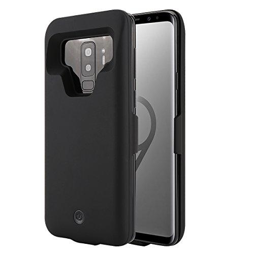 BasicStock Funda Batería Galaxy A8 Plus 2018, 7000mAh Batería Externa Recargable Ultra Delgada Protector portátil Carga Caso de Prueba de Choque para Samsung Galaxy A8 Plus 2018 (Negro)