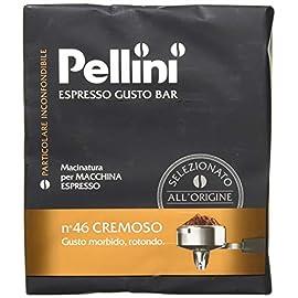 Pellini Espresso Gusto Bar N. 46 Cremoso Ground Coffee (Pack of 2), 2 x 250g