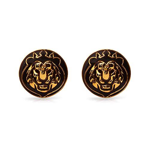 Rosec Jewels Gemelos para Hombre inspirados en Animales, bañados en Oro de latón esmaltado, Gemelos Vintage de Boda, Gemelos,Gemelos y Juegos de Clips de Corbata