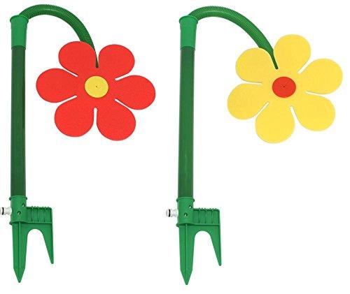 2 Stück Neustanlo Tanzende Blume Rasensprinkler Bewässerung Sprenger beweglich farblich sortiert