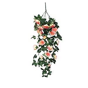 AKIMPE Clearance Sales! Artificial Fake Flower Faux Greenery DIY Decorations Forever Petals Long Stem Vine Preserved Gift Delivery Plants for Wedding Party Home Birthday Garden Her Women