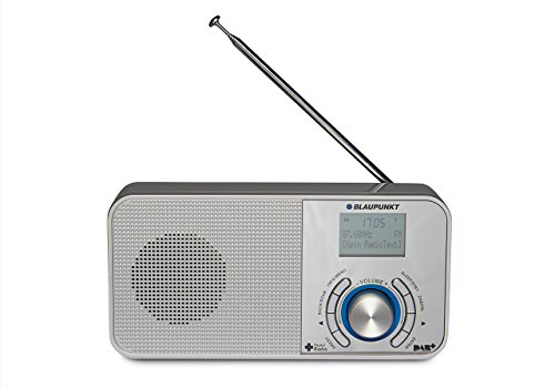 Blaupunkt DAB+ Radio RXD 50 mit Batterie-Betrieb, tragbar, UKW-PLL Radio mit Aux-In und Teleskop-Antenne Silber