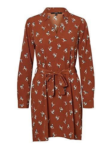 Vero Moda Vmfedora L/S Short Dress Wvn Ga Vestido para Mujer