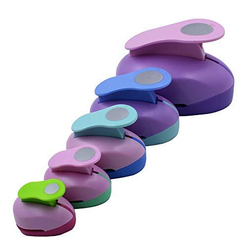 CINY Juego de 5 Perforadoras Circulares, Dispositivo de Grabación en Relieve Redondo,...