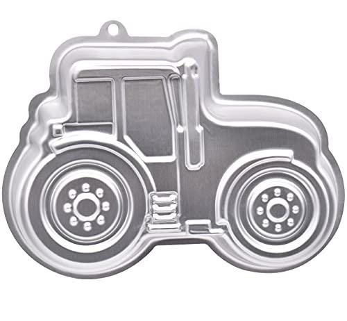 Molde para hornear , forma de tractor, para hornear tartas para cumpleaños infantiles, molde de de Aluminio, diseño de bulldog, tractor de silicona para pasteles, helado, chocolate