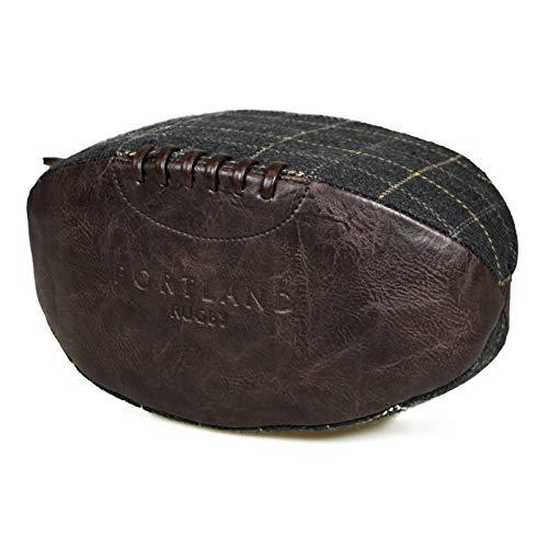 Portland Vintage Retro Leder Rugby Ball Kulturbeutel Gr. Einheitsgröße, dunkelbraun