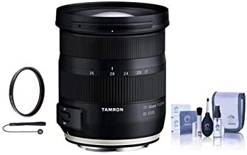 Tamron 17-35mm f/2.8 Di OSD Wide Angle Lens for Canon EF Mount - Bundle with 77mm UV Filter, Cleaning Kit, Capleash
