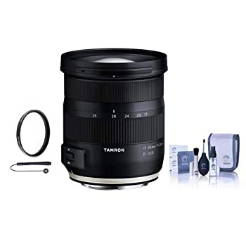 Tamron 17-35mm f2.8-4 DI OSD AFレンズ - フロントレンズキャップ - リアレンズキャップ - フラワー型フード - 77mm UVフィルター - クリーニングキット - Capleash ブランド:Tamron。 MPN: A037。 レンズシリーズ:Tamron Di。 色:ブラック。