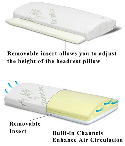 InteVision Bed Wedge and Headrest Memory Foam Pillow