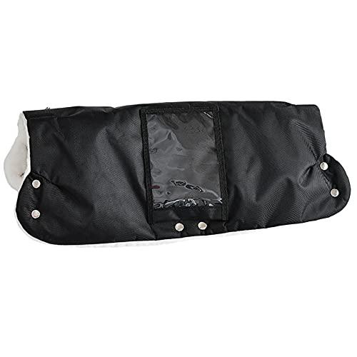 iFCOW Cochecito de mano con bolsillo para el teléfono Invierno impermeable a prueba de viento Cochecito de bebé guantes calentador de mano para padres cuidadores