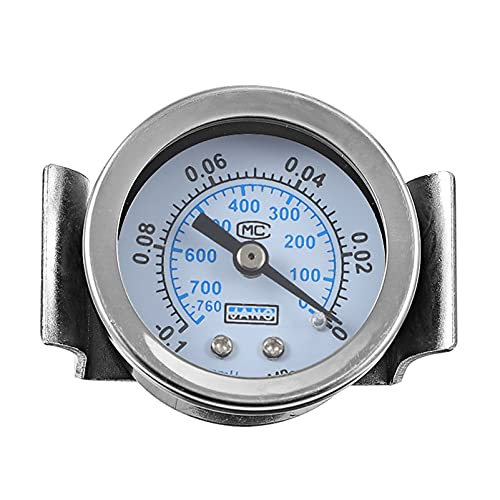 iplusmile Medidor de Presión Axial de Doble Escala de Acero Inoxidable con Manómetro de Aceite 6MM Y40ZV