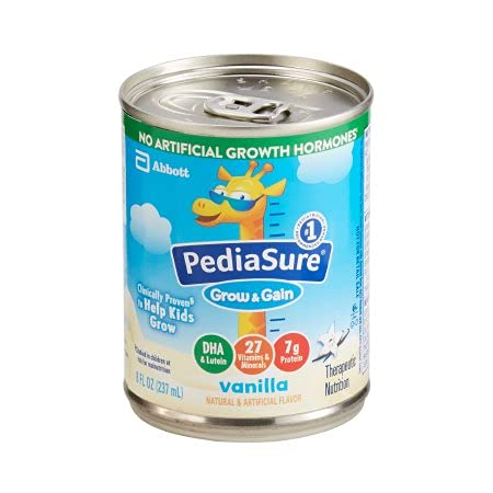 PediaSure Outlet SALE Grow Gain Vanilla Formula 8 Can 55897 Directly managed store Ounce Abbott