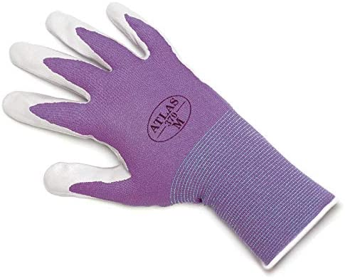 ATLAS Fit New item Chicago Mall 370 Purple Thin Gloves X-Small Nitrile XS6-Pack