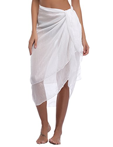 iClosam Damen Strandkleid Bikini Cover up 2020 Sommer Bikini Kleid Damen Pareos & Strandkleider,Multifunktional,Durchsichtig