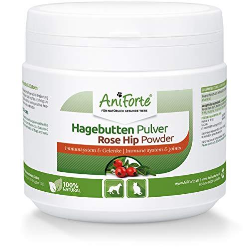 AniForte Hagebuttenpulver für Hunde und Katzen 250g – Natürliches Gelenkpulver & Immunsystem stärken, Galaktolipide für Gelenke & wichtige Vitamine & Pflanzenstoffe für Abwehrkräfte