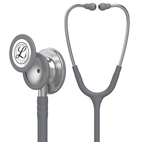 3M Littmann Classic III Monitoring Stethoscope, Gray Tube, 27 Inch, 5621