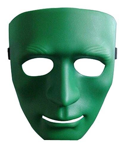 Masque Halloween Masquerade enfants Horreur Street Dance boules vert