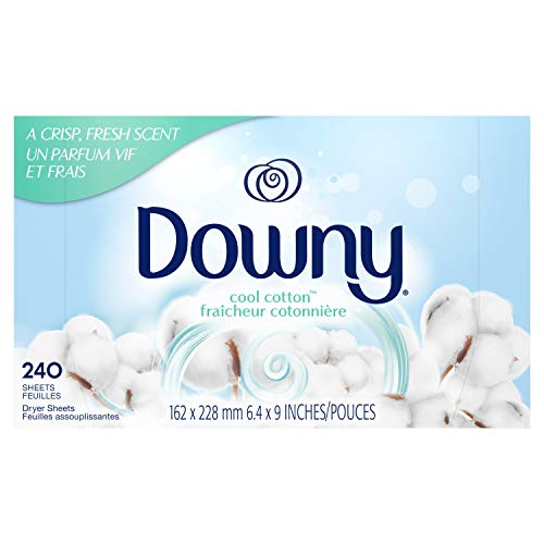 Downy Fabric Softener Dryer Sheets, Cool Cotton, 240 Count