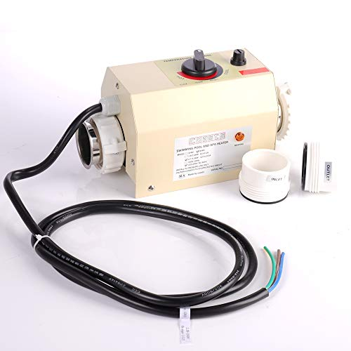 Mingfuxin Poolheizung 220V 3KW Elektro-Durchlauferhitzer Thermostat Schwimmbad-Thermostat SPA-Bad Tragbare Poolheizung Elektro-Durchlauferhitzer Thermostat Heizungspumpe