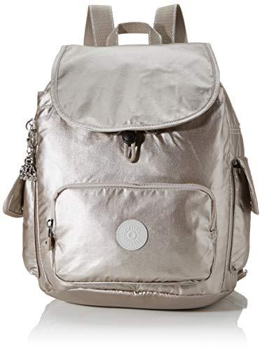 Kipling Damen City Pack S Rucksack, Silber (Metallic Glow), 27x33.5x19 cm