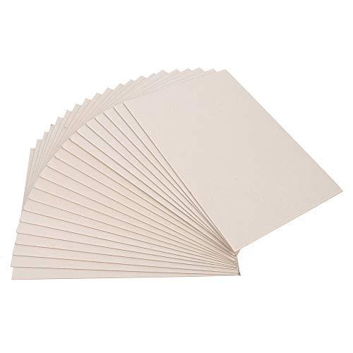 ewtshop® 20 hojas de cartón gris DIN A4, grosor 2 mm, 1230 g/m², cartón encuadernado, calendario, cartón para modelos, cartón para manualidades