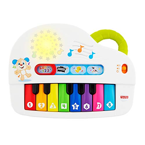 Fisher-Price Fisher-Price-GFK04 Laugh and Learn Silly Sounds-Piano Iluminado, Multicolor, 20.4 x 13.4 x 21.3 cm (Mattel GFK04)