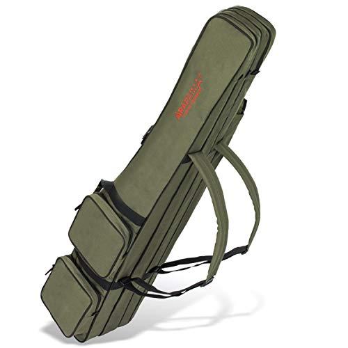 Arapaima Fishing Equipment® Allround Canne à pêche avec 3 Compartiments intérieurs | Rod Bag | Sac de Transport de pêche (Olive, 190 cm)