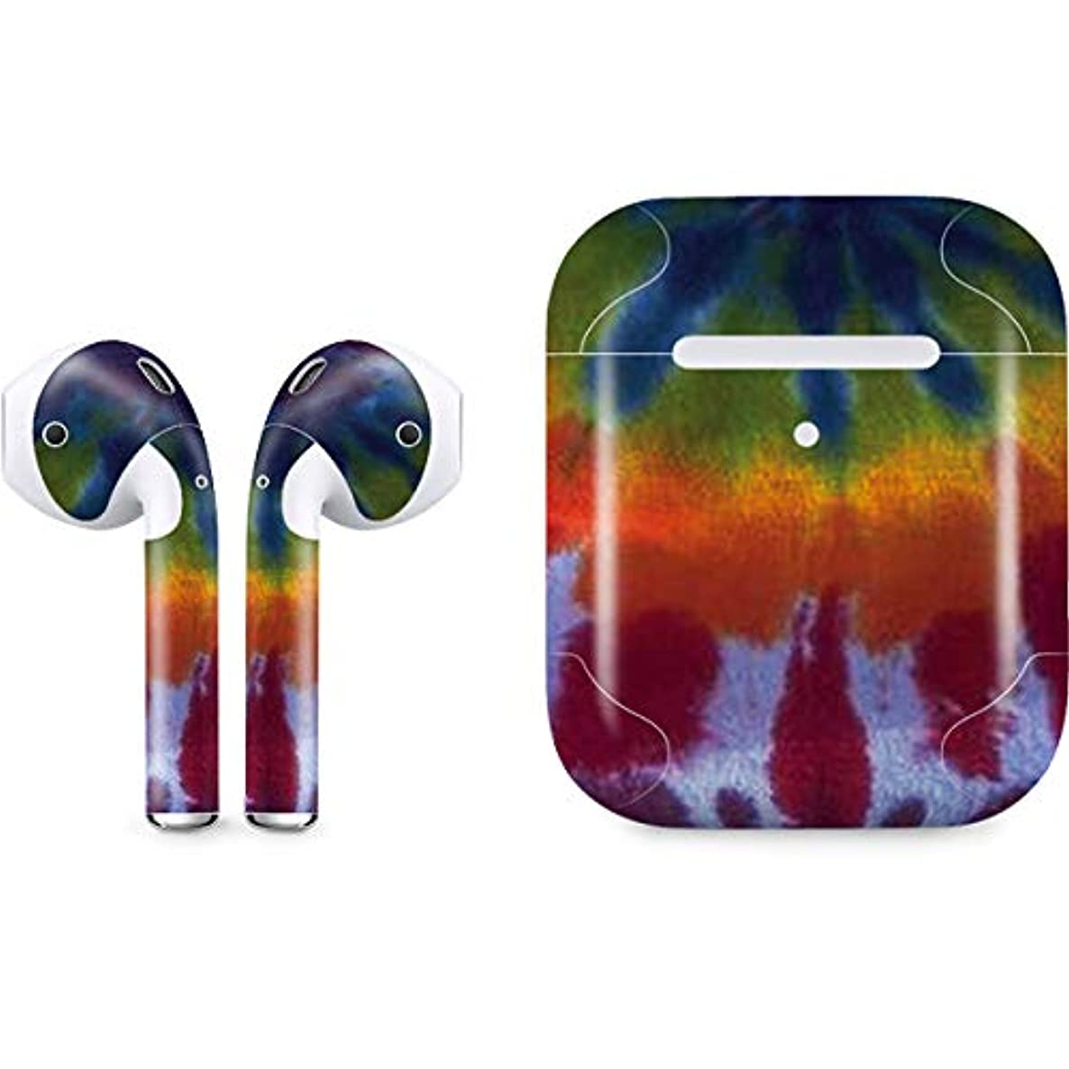 Skinit Tie Dye Apple AirPods 2 Skin - Original Skinit Studios Designed Audio Sticker - Thin, Case Decal Protective Wrap for Apple AirPods 2