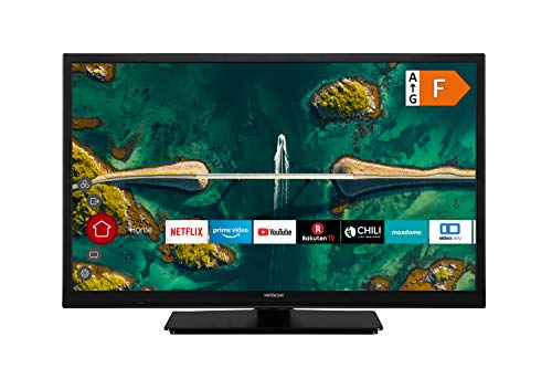HITACHI H24E2200 24 Zoll Fernseher (HD Ready, Smart TV, HDR 10, Prime Video/Netflix/YouTube, Works with Alexa, Triple-Tuner, PVR)