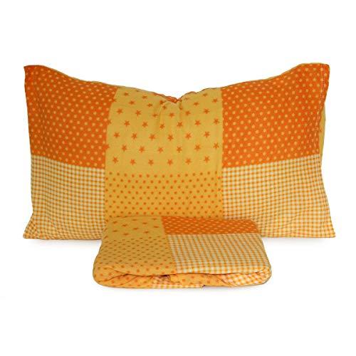 Completo Lenzuola in Pile New Stars per Letto Singolo Una Piazza R757 Arancione